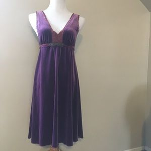 FP purple velvet dress